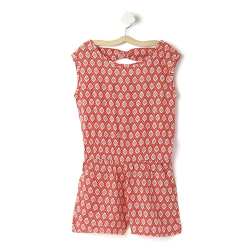 Girls 'Saira' Printed Viscose Jumpsuit