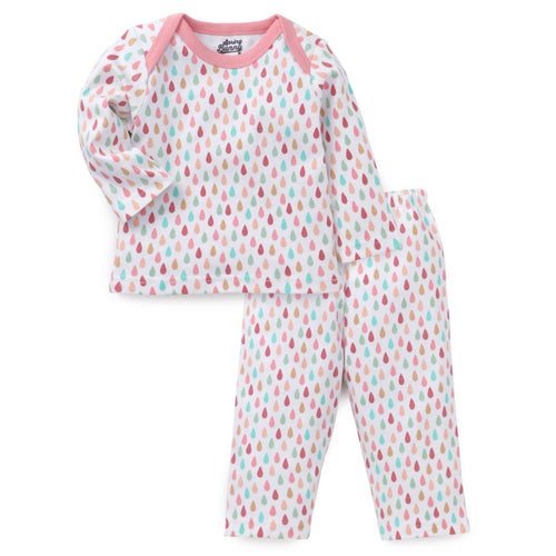 Baby Girl 'Rain drop' Pyjama Set