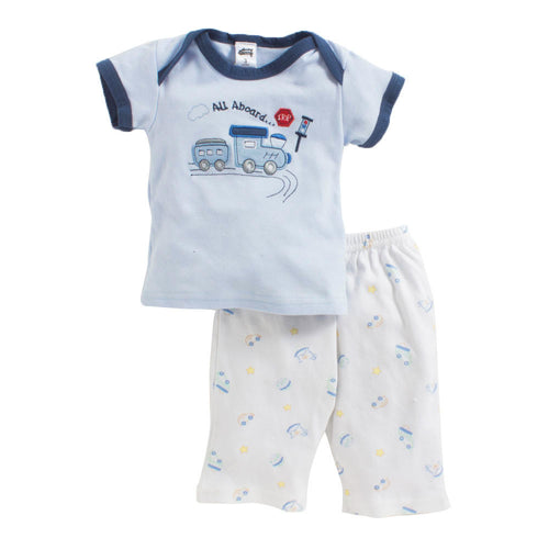 Baby Boy 'All Aboard' Pyjama Set