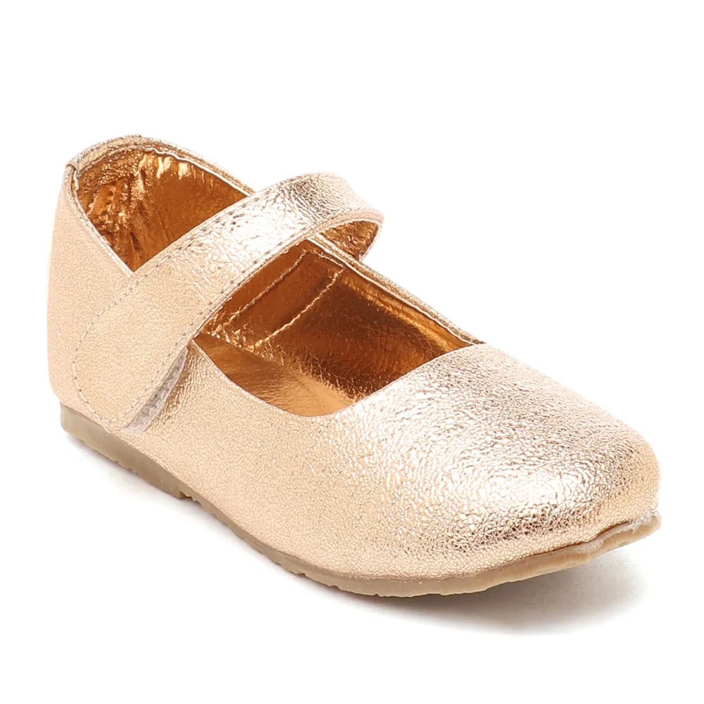 Toddler Girl 'Sparkle' Copper Mary Jane Shoes