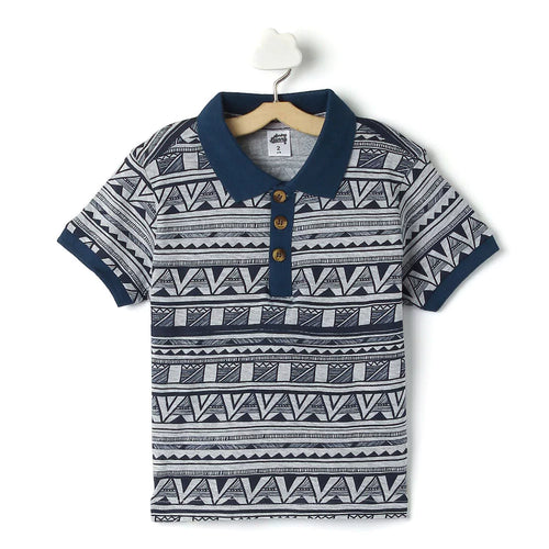 Toddler Boy 'Suave' Polo T-shirt