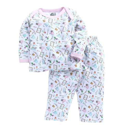 Baby Girl 'Summer Garden' Pyjama Set