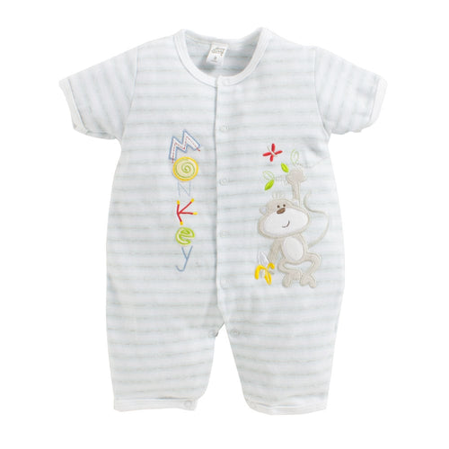 Baby Boy 'Monkey Time' Off white Romper