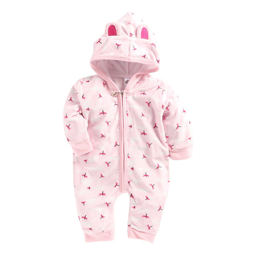 Baby Girl 'Dragon Fly' Pink Snuggy