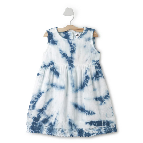 Baby Girl ' Peacock ' Green Tie dye Dress