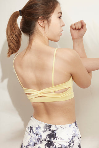 Ami Twist Bra in Butter