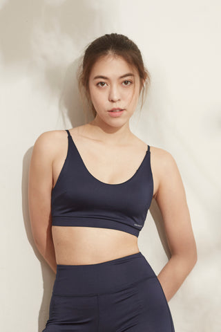 Ami Twist Bra in Navy