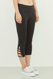 Claire Crisscross Capri in Black