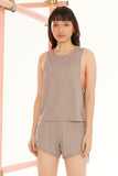 Draw String Tank in Grey