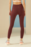 Gaia Legging in Maroon
