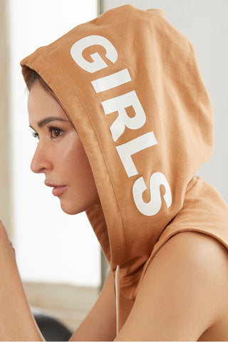 Girls Hoodie in Brown