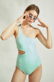 Lana One-Piece in Aqua
