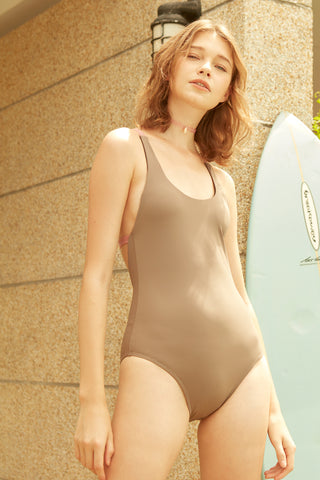 Kale One-Piece Swimsuit in Grey