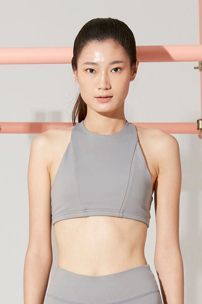 Kim Halter Bra in Grey