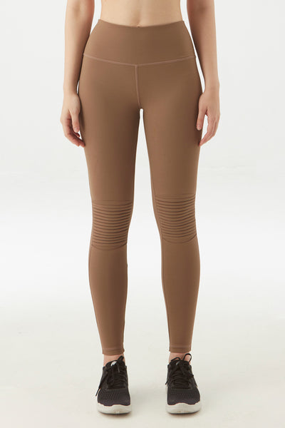Classic Moto Legging in Tan