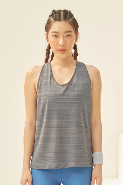 Nanna Twisted Tank in Grey