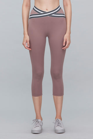 Naomi X-Cross Capri in Taupe