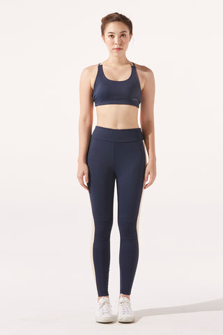 Tess Moto Legging in Navy