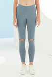 Thea Knee-Slash Legging in Navy Grey