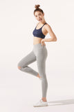 Thea Knee-Slash Legging in Light Grey