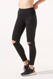 Thea Knee-Slash Legging in Black