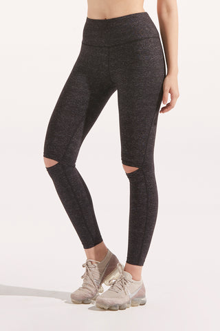 Thea Knee-Slash Legging in Dark Grey