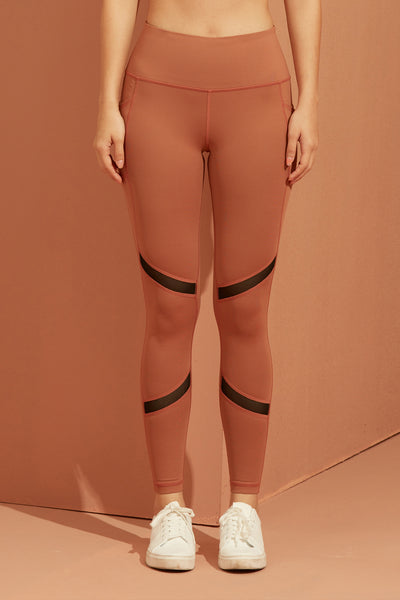 Trix Mesh Legging in Mocha