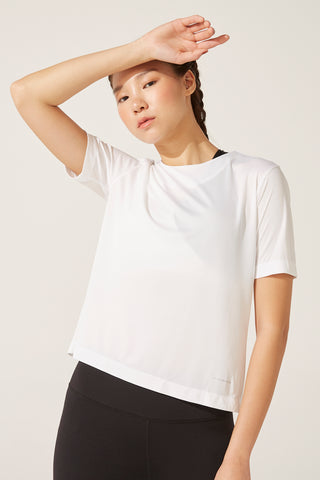 Luxe Lacey Tee in White