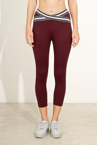 Naomi X-Cross Capri in Maroon