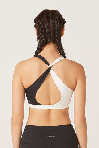 Zoe Two-tone Bra in Black and White