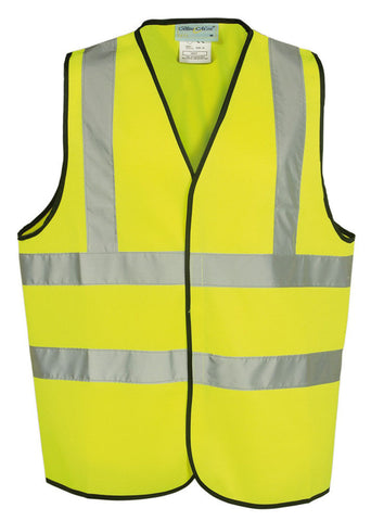 100 x High Visibility Yellow / Orange Safety Vest Waistcoat Jacket - RUFTUF