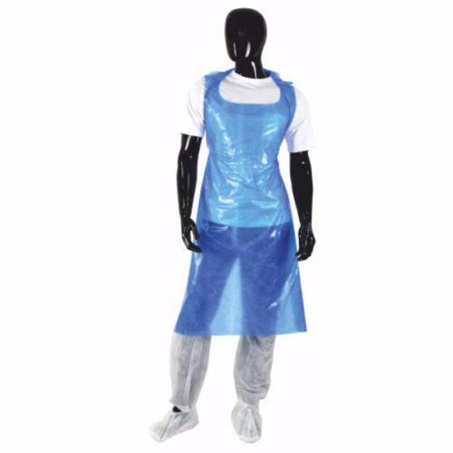 Box of 100 Waterproof Disposable Polythene Plastic Aprons - RUFTUF