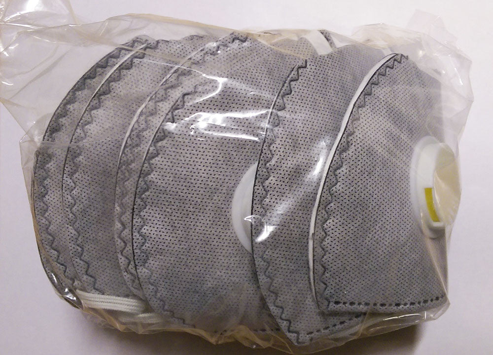 Dust Mask Respirator Fold Flat Valved FFP3 Protective Safety Face Mask - RUFTUF