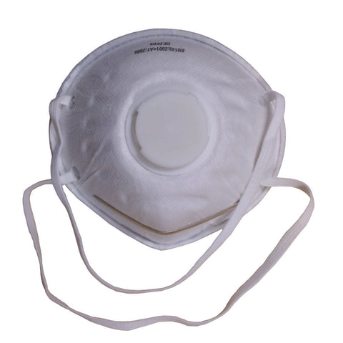 Dust Mask FFP3 NR Moulded Valved Respirator Protective Safety Face Mask - RUFTUF