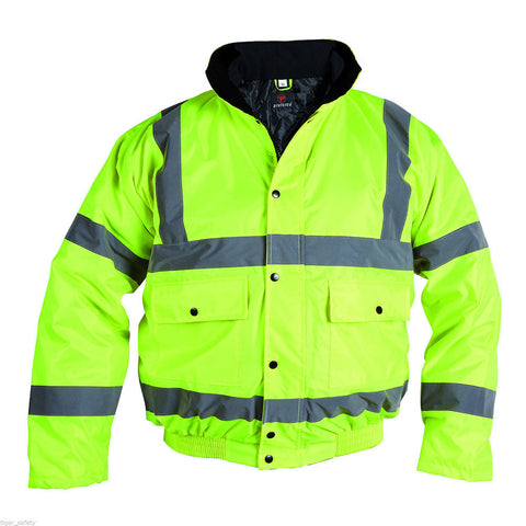 PROFORCE Yellow High Visibility Class 3 Bomber Jacket - RUFTUF