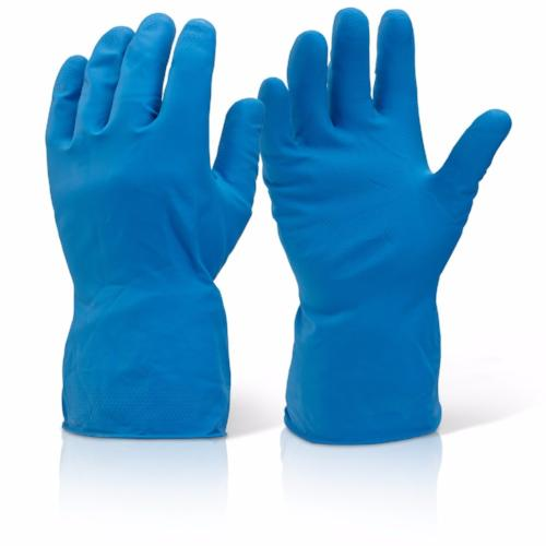 Blue Household Rubber Latex Long Sleeve Gloves - RUFTUF