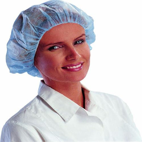 100 Blue Disposable Mob Caps Anti Dust Hair Net - RUFTUF
