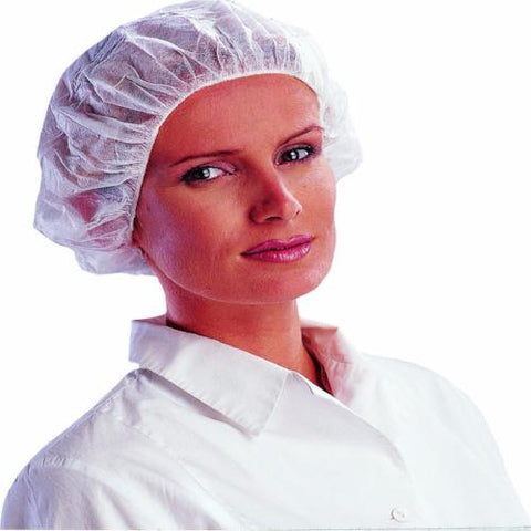100 White Disposable Mob Caps Anti Dust Hair Net - RUFTUF