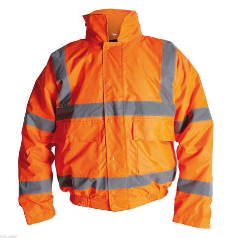 PROFORCE Orange High Visibility Class 3 Bomber Jacket - RUFTUF