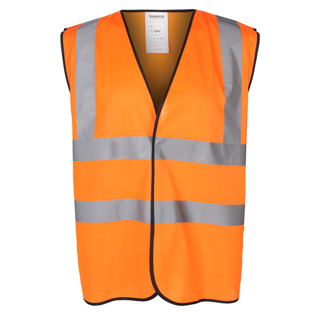 Orange High Visibility 120 GSM knitted EN471 Certified Waistcoat