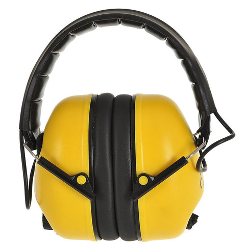 Padded Head Band Yellow Folding Ear Defender - RUFTUF