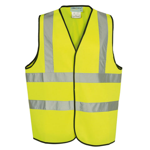 Yellow High Visibility 120 GSM knitted EN471 Certified Waistcoat - RUFTUF