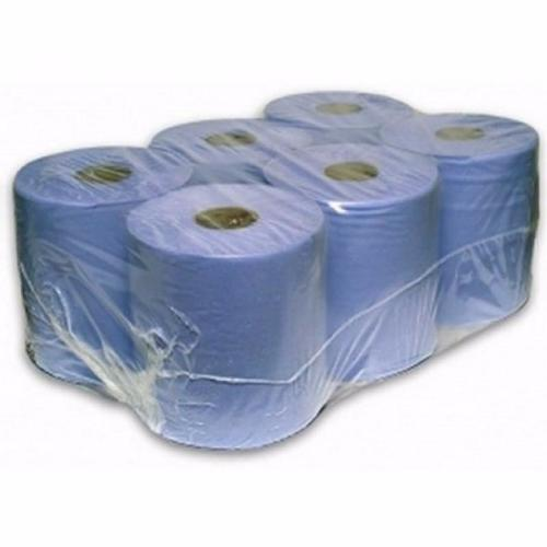 150m Blue Centrefeed 2PLY Hand Towel Wiper Rolls Paper - RUFTUF