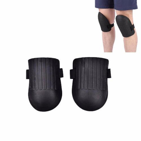 Pair of Black Knee Pad Soft Foam Pads With one Strap - RUFTUF