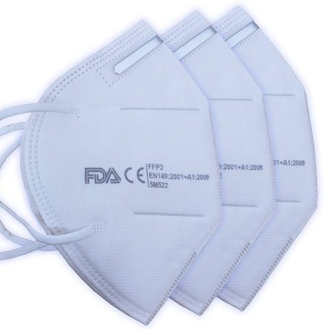 Twin Pack KN95 Fold Flat Mask Disposable Surgical / Medical Anti-bacterial Respirator