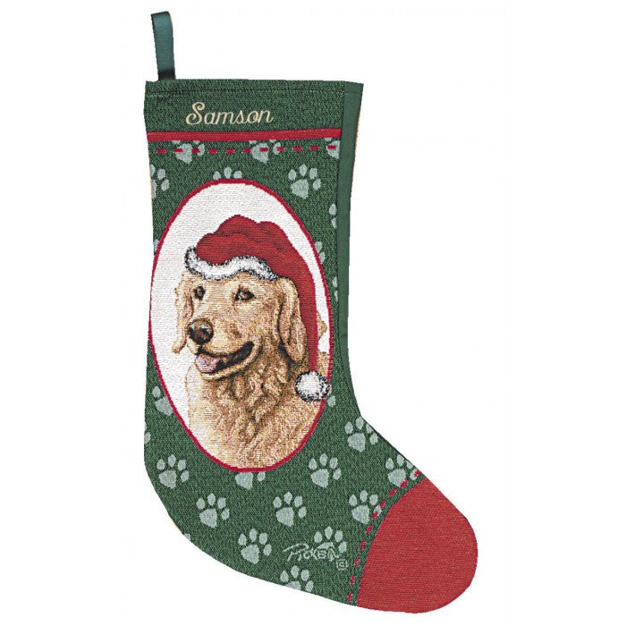 Golden Retriever Christmas Stockings Personalized for Dogs