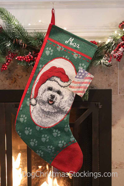 Bichon Frise Personalized Christmas Stocking