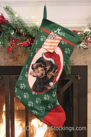Labrador Retriever Chocolate Personalized Christmas Stocking
