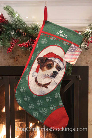 Jack Russell Terrier Personalized Christmas Stocking