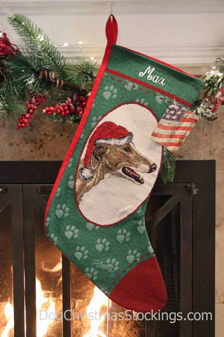 Greyhound Personalized Christmas Stocking